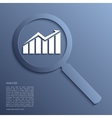 Analysis Magnifying glass with icon vector image vector image