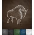 aurochs icon vector image vector image