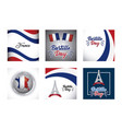 bastille day and france design vector image vector image