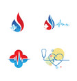 blood donor icon template vector image