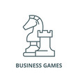 business games line icon linear concept vector image