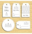 Christmas gift tags Ready to use Christmas vector image