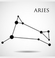 constellation aries zodiac sign vector image