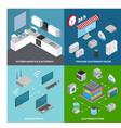 consumer electronics 2x2 design concept vector image vector image