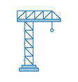 crane construction isolated icon vector image vector image