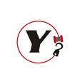 crane hook towing letter y vector image vector image