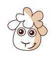 cute sheep drawing character vector image