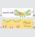 easter cards cartoon characters and vector image