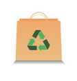 eco paper bag with recycle symbol vector image