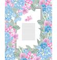elegant floral card vector image