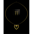 Elegant nested gold heart necklace set vector image
