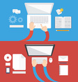 Element of computer concept icon in flat design vector image vector image