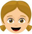 face girl cartoon vector image vector image