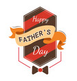 father day holiday isolated icon bowtie and ribbon vector image vector image