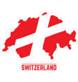 flag and map of switzerland vector image vector image