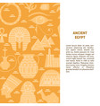 flat style background with egypt symbols and place vector image vector image