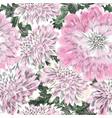 floral seamless pattern flower chrysanthemum vector image vector image