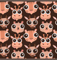 funny hand drawn animals seamless pattern cute vector image