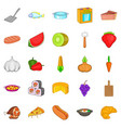 galley icons set cartoon style vector image vector image