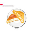gibanica or cheese pie a popular dessert of serbi vector image vector image