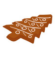 gingerbread icon isometric style vector image vector image