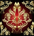 gold baroque 3d seamless pattern vector image vector image