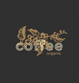 graphic logo coffee emblem vector image