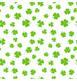 green shamrocks or clovers seamless pattern vector image vector image