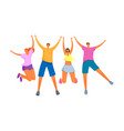 group young happy people vector image