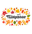 happy thanksgiving day celebration typography vector image vector image