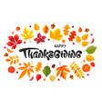 Happy thanksgiving day celebration typography