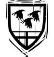 heraldic shield ravens vector image vector image
