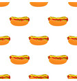 hot dog seamless patterncartoon flat style vector image vector image