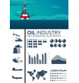infographic elements of oil industry sea oil vector image vector image
