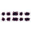 ink splatter frame dirty brush splatted stains vector image vector image