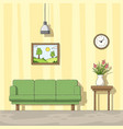 interior a living room vector image
