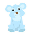 isolated stuffed polar bear toy vector image vector image