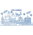 italy florence winter city skyline merry vector image vector image