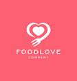 love food restaurant logo design vector image vector image