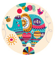 Lovely cute Elephant vector image vector image