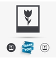 Macro photo frame icon Flower photography vector image vector image