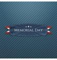Memorial Day greeting Banner and Ribbon vector image