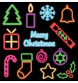 neon Christmas vector image vector image