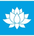 Nice lotus flower sign vector image vector image