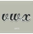 paper uppercase alphabet with shadows vector image vector image