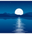 Reflection of the moon in water vector image vector image