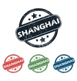 Round Shanghai city stamp set vector image vector image