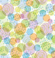Seamless pattern abstract background with circles vector image vector image