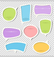 set of paper speech bubbles with calligraphic vector image vector image
