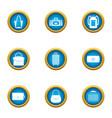 shopping bag icons set flat style vector image